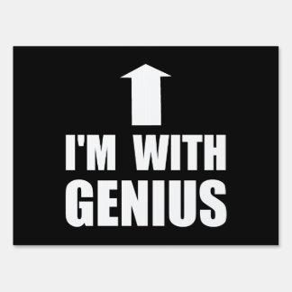 Estoy con el genio letrero