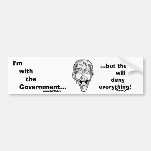 Estoy con el gobierno… pegatina de parachoque