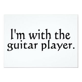 """Estoy con el guitarrista invitación 5"""" x 7"""""""