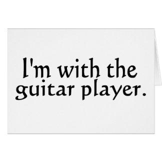 Estoy con el guitarrista tarjeta pequeña