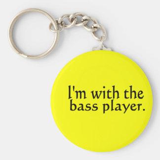 Estoy con el regalo de la música de banda del baji llaveros personalizados