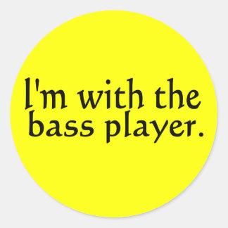 Estoy con el regalo de la música de banda del pegatina redonda
