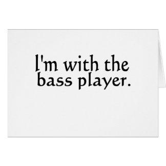 Estoy con el regalo de la música de banda del tarjeta de felicitación