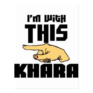Estoy con este Khara Tarjetas Postales