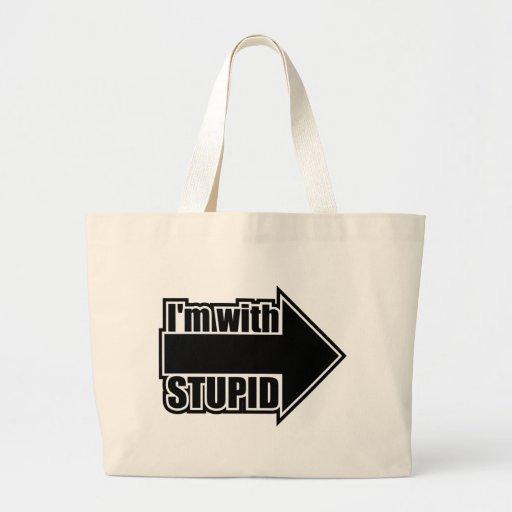 Estoy con estúpido bolsa