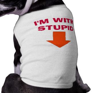 Estoy CON ESTÚPIDO Camisa De Perrito
