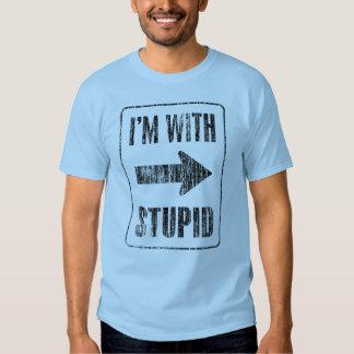 Estoy con estúpido [derecho] polera