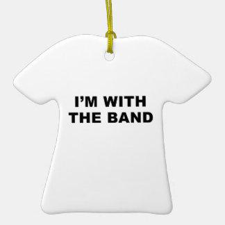 Estoy con la banda adorno de cerámica en forma de playera