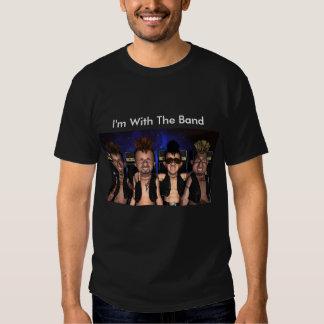 Estoy con la camiseta de la banda remeras