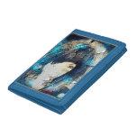 Estoy con la cartera del azul de la peluca