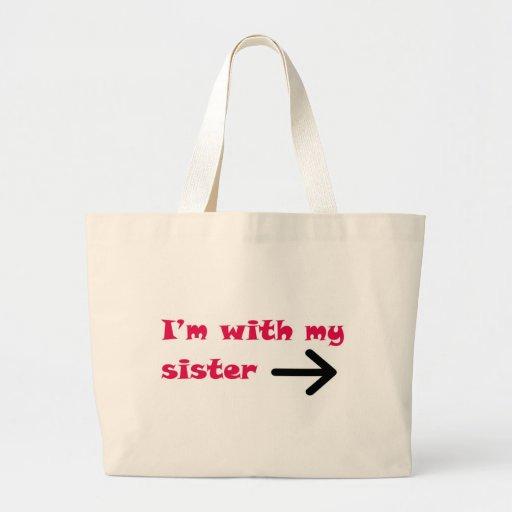 Estoy con la mi derecha de la flecha de la hermana bolsa