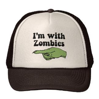 Estoy con los zombis gorras de camionero
