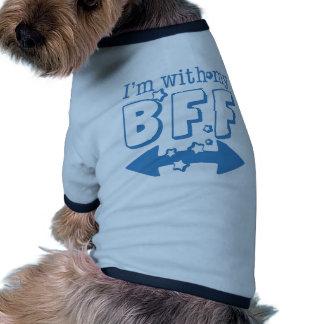 Estoy con mi BFF (la flecha doble) Camiseta Con Mangas Para Perro