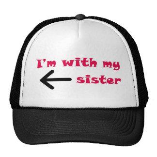 Estoy con mi flecha de la hermana dejada gorras de camionero