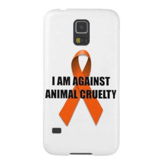 Estoy contra la crueldad animal carcasa de galaxy s5