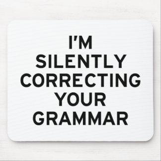 Estoy corrigiendo la gramática alfombrilla de ratones