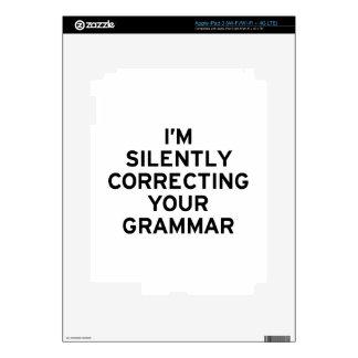 Estoy corrigiendo la gramática iPad 3 skin
