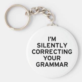 Estoy corrigiendo la gramática llavero redondo tipo pin
