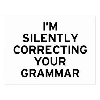 Estoy corrigiendo la gramática postal