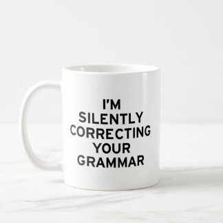 Estoy corrigiendo la gramática taza