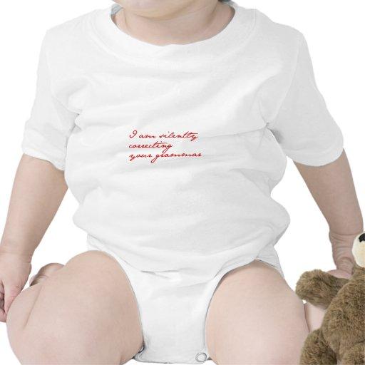 Estoy corrigiendo silenciosamente su gramática-jan camiseta