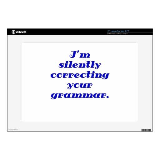 Estoy corrigiendo silenciosamente su gramática portátil calcomanías