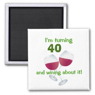 Estoy dando vuelta a 40 y wining sobre él imán