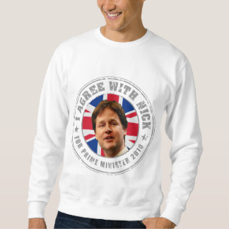 Estoy de acuerdo con la camiseta de Nick Sudaderas Encapuchadas