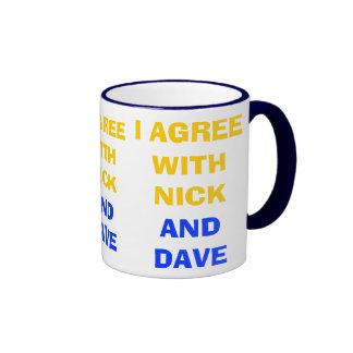 Estoy de acuerdo con la coalición política del ~ d taza de café