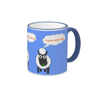 Estoy de acuerdo con la elección general política  tazas de café