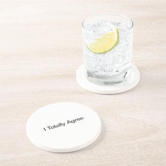 Estoy de acuerdo totalmente posavasos para bebidas