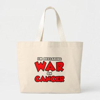 Estoy declarando guerra en cáncer bolsas lienzo