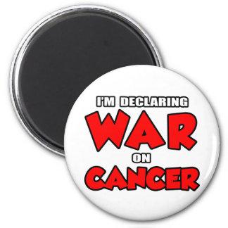 Estoy declarando guerra en cáncer imanes de nevera