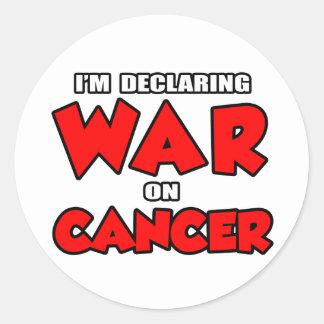 Estoy declarando guerra en cáncer pegatina redonda