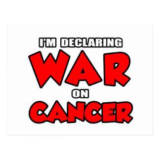 Estoy declarando guerra en cáncer postales