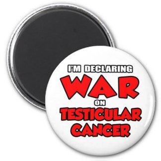Estoy declarando guerra en cáncer testicular iman para frigorífico