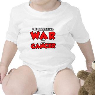 Estoy declarando guerra en cáncer trajes de bebé
