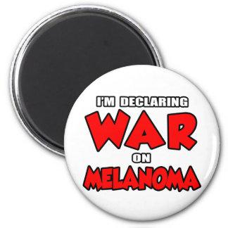 Estoy declarando guerra en melanoma imán de nevera