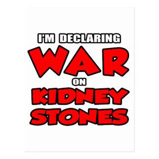 Estoy declarando guerra en piedras de riñón tarjetas postales