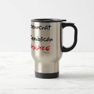 Estoy despierto No Demócrata o republicano Tazas De Café
