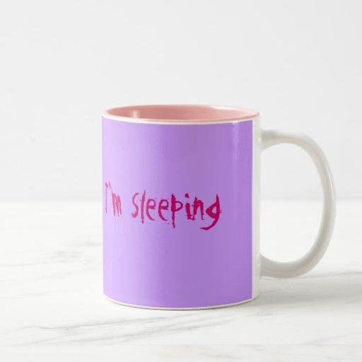 Estoy durmiendo taza de dos tonos