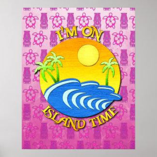 Estoy el tiempo de la isla póster