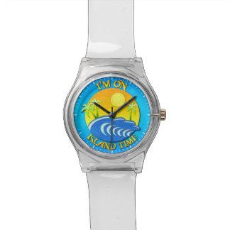 Estoy el tiempo de la isla relojes de pulsera