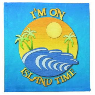 Estoy el tiempo de la isla servilletas