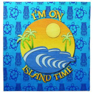 Estoy el tiempo de la isla servilleta de papel