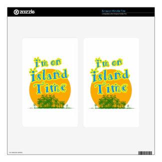 ¡Estoy el tiempo de la isla! Skins Para Kindle Fire