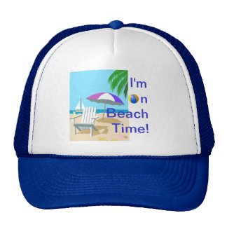 Estoy el tiempo de la playa gorras de camionero