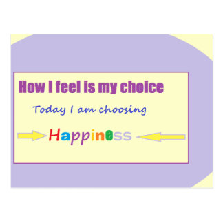 Estoy eligiendo hoy felicidad postal