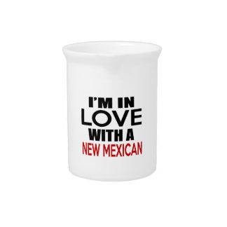 Estoy EN AMOR CON EL NUEVO MEXICANO Jarra Para Bebida