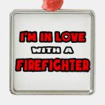 Estoy en amor con un bombero ornamente de reyes